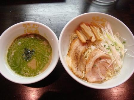 海鳴つけ麺小盛ジェノベーゼオイル.jpg